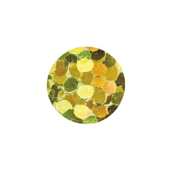 Bügel-Pailletten, 500 Stück, Ø4mm, gelb