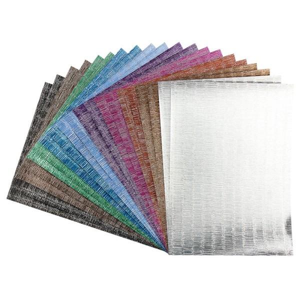 Effekt-Papier, Seidencrash-Optik, metallic, DIN A4, 128g/m², 20 Blatt