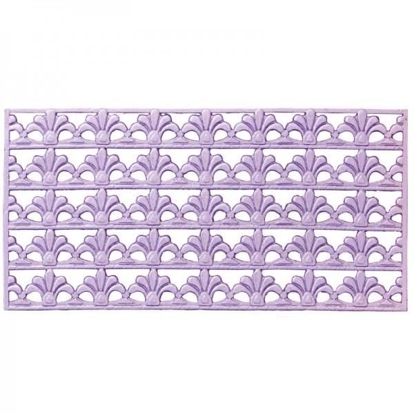 Wachs-Bordüren, Französische Lilie, 5 Bordüren à 2 x 10 cm, flieder
