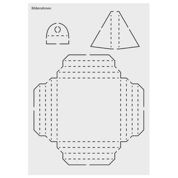 "Design-Schablone Nr. 5 ""Bilderrahmen"", DIN A4"