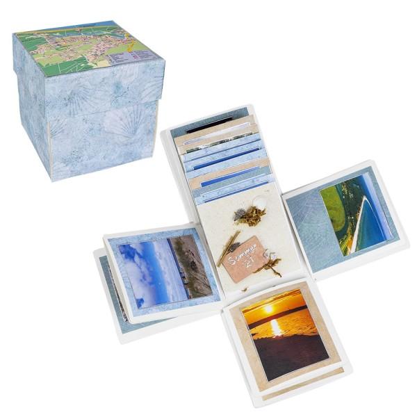 Überraschungsbox, mit Album, 12,5cm x 12,5cm x 12,5cm, weiß
