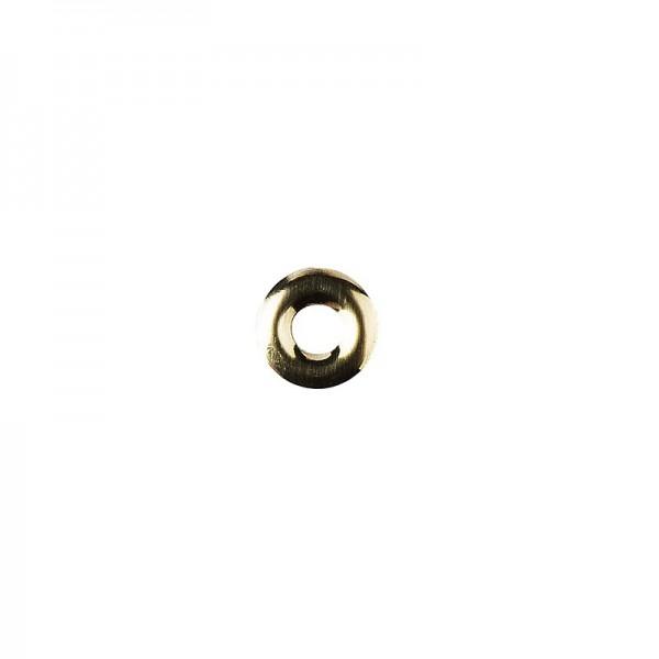 Hot-Fix Ring-Nieten zum Aufbügeln, Ø 10mm, hellgold, 100 Stück