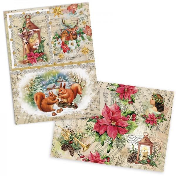 """Reispapiere """"Weihnachten"""", DIN A4, 2 Designs"""