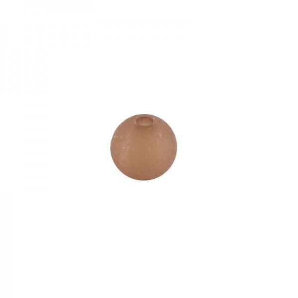Perlen, gefrostet, Ø 4mm, 200 Stück, braun
