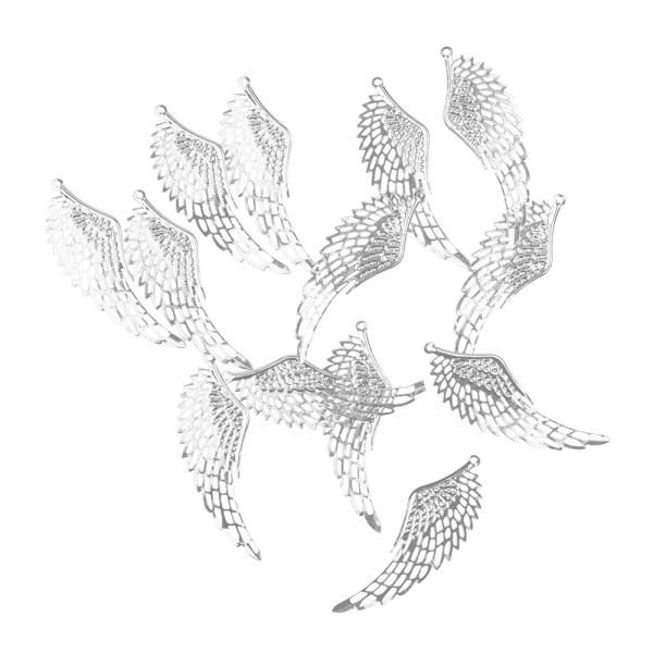 Metall-Ornamente, Design 20, 7,1cm x 2,4cm, silber, 13 Stück