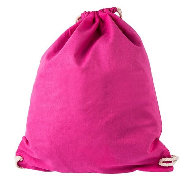 Turnbeutel aus Baumwolle, 37cm x 44cm, pink