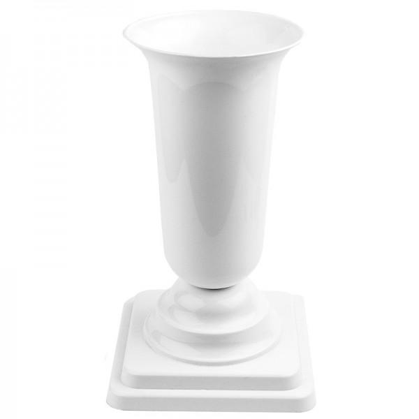 Pokal-Vase, Ø12,5cm, 27cm hoch, weiß