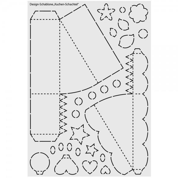 Design-Kunststoff-Schablone, Kuchen-Schachtel, DIN A3
