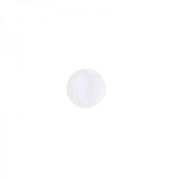 Perlen, gefrostet, Ø 4mm, 200 Stück, weiß