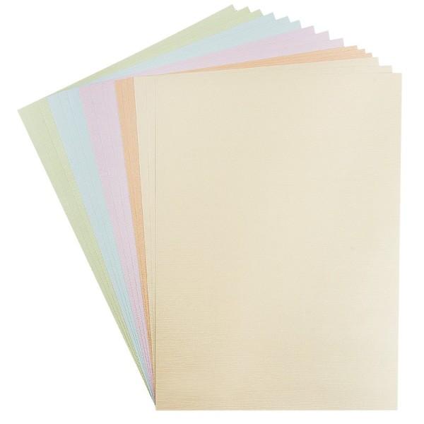 """Präge-Karton """"Athen"""", DIN A3, Pastelltöne, 15 Bogen"""