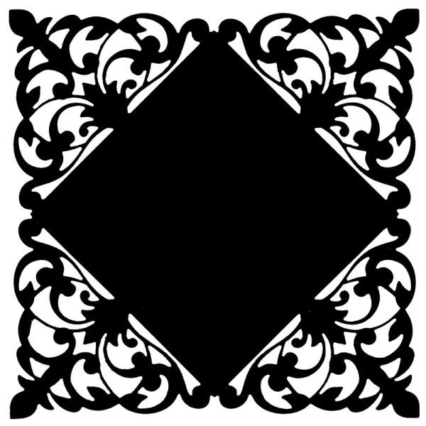 Stanzschablone, Zierdeckchen 1, 14cm x 14cm