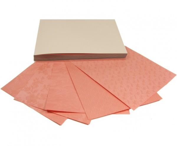100 Perlmuttpapiere im Block, A5, 10 Farben, 5 Designs