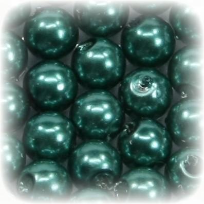 Perlen, rund, Ø6 mm, türkisgrün, 50 Stück