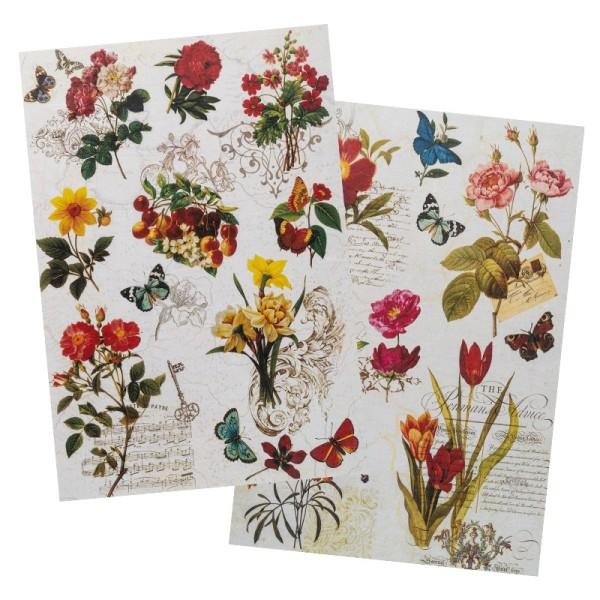 Reispapiere, Nostalgie 5, DIN A4, 2 Designs