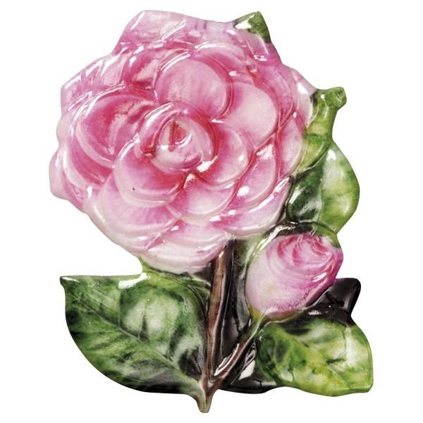 Wachsornament Blütenpracht 7, farbig, geprägt, 8cm