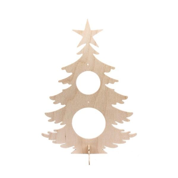 Deko-Tanne aus Holz zum Aufstellen, 29,7cm x 21,3cm