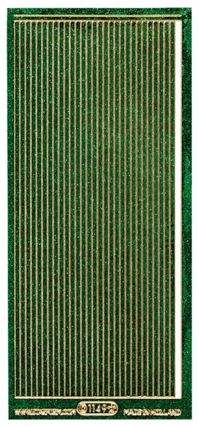 Microglitter-Sticker, Linien, 3,5mm, grün