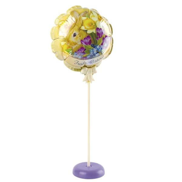 Zauber-Ballon mit Stab & Podest, Ø 11,5 cm, 31,5 cm hoch, Frohe Ostern