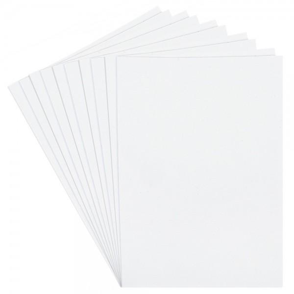 Moosgummi, selbstklebend, Glitzer 4, DIN A4, 2mm, weiß, 10 Bogen