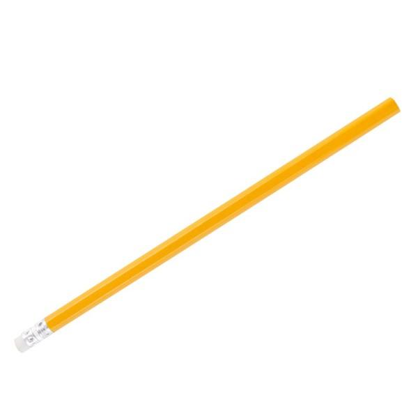 Bleistift mit Radiergummi, HB, orange lackiert, 18,5cm