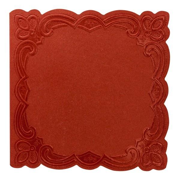 """10er Grußkartenset Deluxe, """"Rom"""", 15x15cm, rot"""