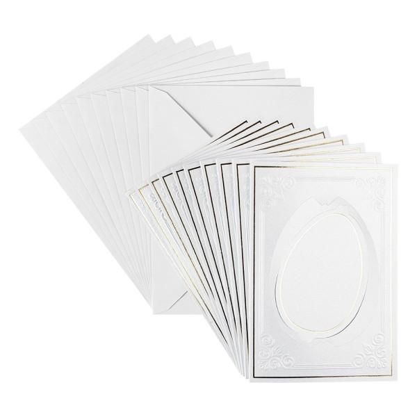 "Grußkarten ""Dreh-Ornament Ei"", B6, 10 Stück, inkl. Umschläge"
