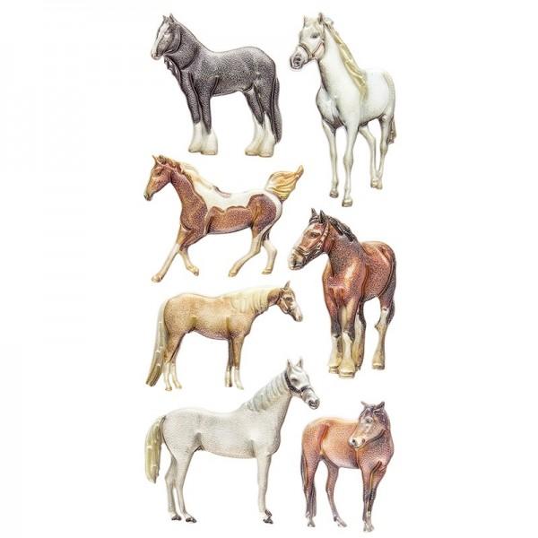 Relief-Sticker, Pferde, 17,5cm x 9cm