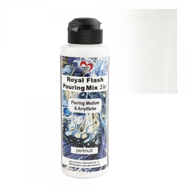 Royal Flash Pouring Mix, 2in1, Pouring Medium & Acryfarbe, perlmutt, 180ml
