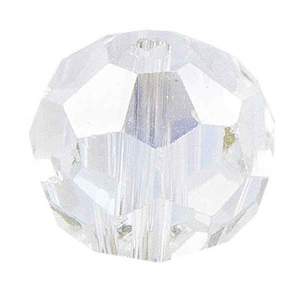 Glaskunst, Perlen, Kugel, Ø 1cm, facettiert, klar irisierend, 30 Stück