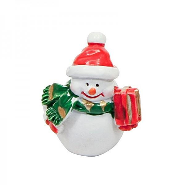 Deko-Schneemänner mit Geschenk, 3 x 3 cm, 5er Set