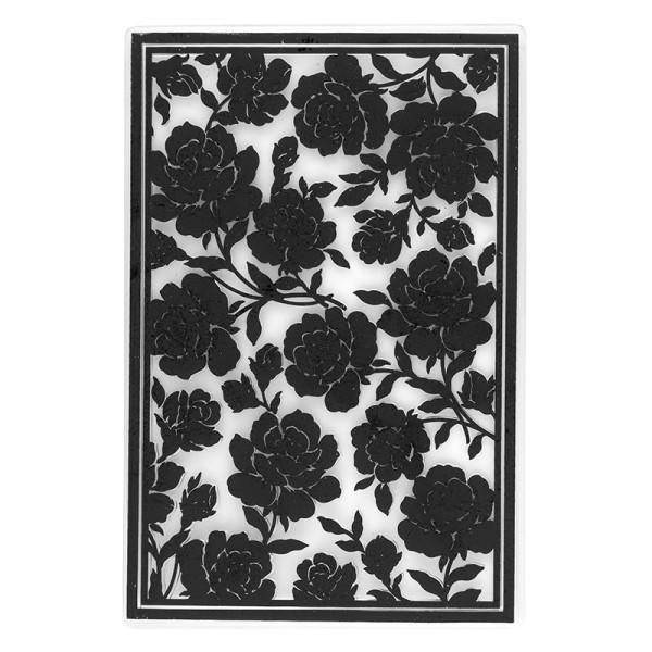 Prägeschablone, Rosen 1, 15cm x 10cm, passend für gängige Präge- & Stanzmaschinen