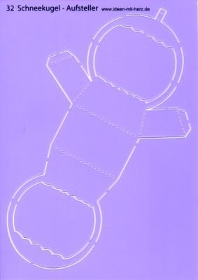 """Design-Schablone Nr. 32 """"Schneekugel-Aufsteller"""", DIN A4"""