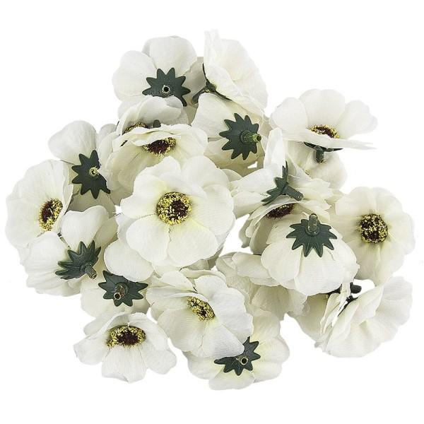 "Deko-Blüten ""Anemone 3"", Ø 4,5cm, weiß, 27 Stück"