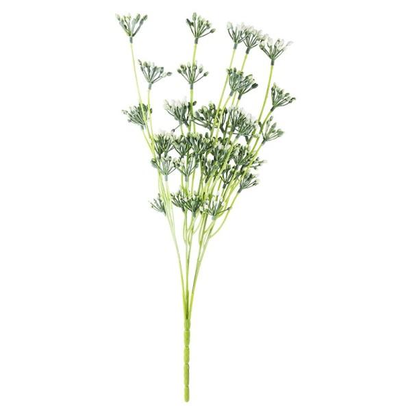 Deko-Busch, Blütenknospen 3, 43cm lang, 5 Stängel, weiße Knospen