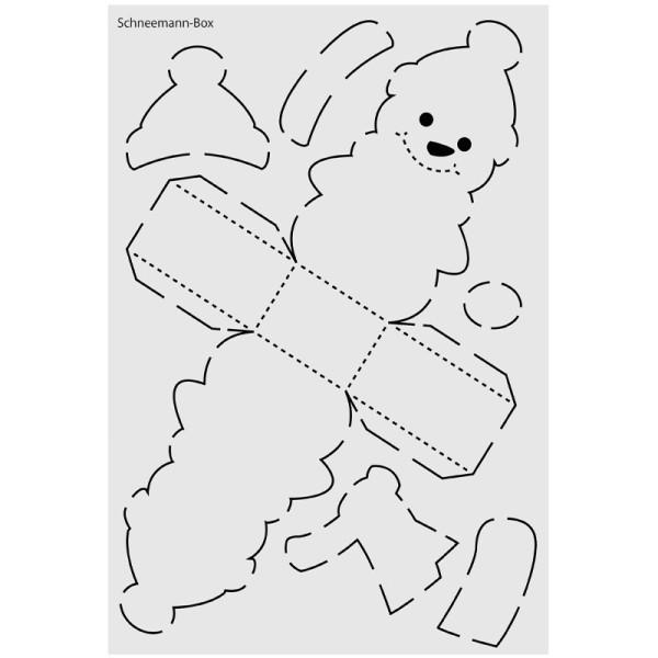 """Design-Schablone Nr. 2 """"Schneemann-Box"""", DIN A4"""