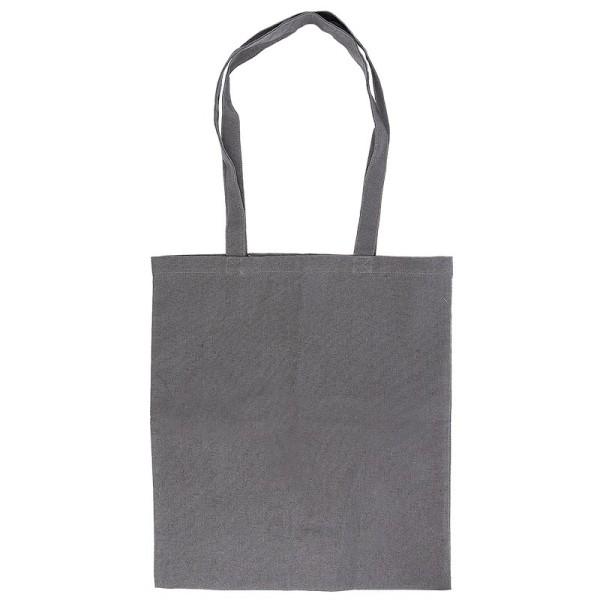 Textil-Tasche, 38cm x 42cm, mit zwei Lang-Henkeln, anthrazit