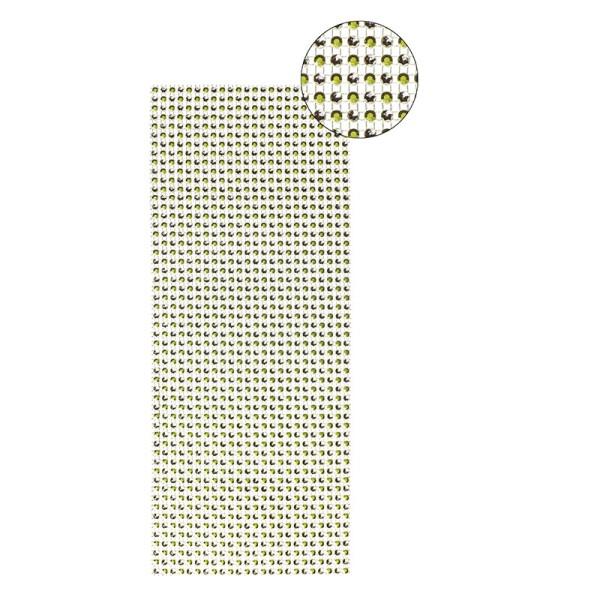 Schmuck-Netz, selbstklebend, 12 x 30 cm, Bi-Color, maigrün/silber