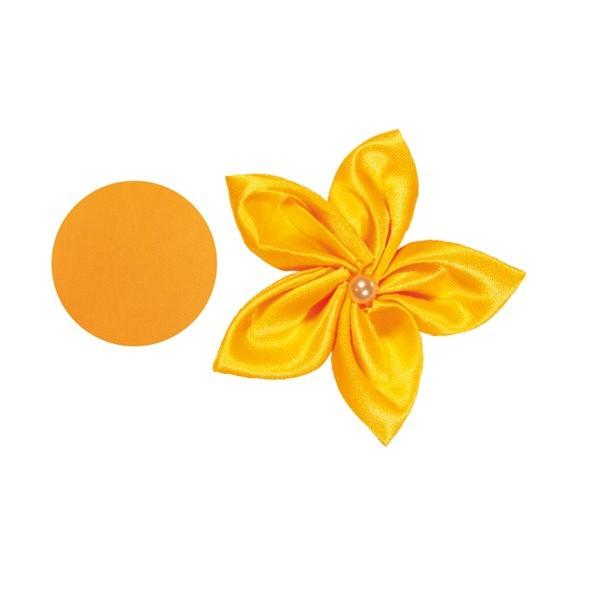 Satin-Stanzform, rund, Ø6cm, 50 Stück, orange
