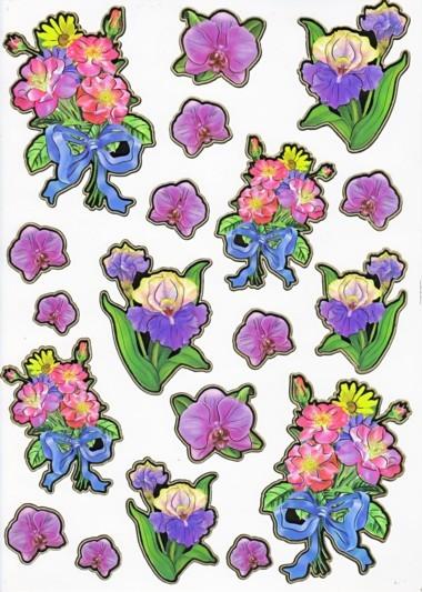 Ultra Gloss Sticker Bogen, Orchideen