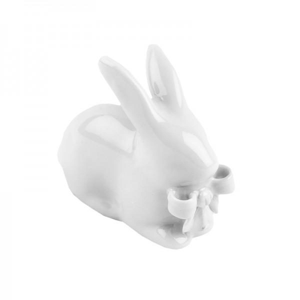 Deko-Hase, Porzellan, Design 1, weiß