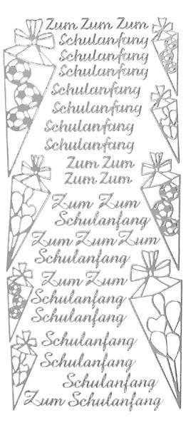 Sticker, Motive Schulanfang, silber