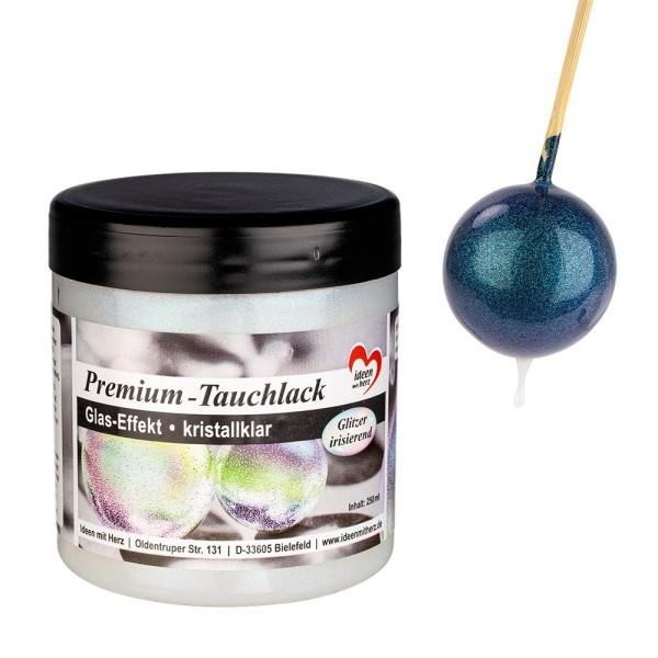 Premium-Tauchlack, Glas-Effekt, kristallklar Glitzer irisierend, 250ml