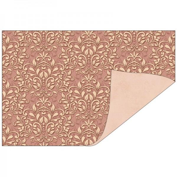 Faltpapiere, Duo-Design 37, 10cm x 15cm, Ornamente/apricot, 50 Stück