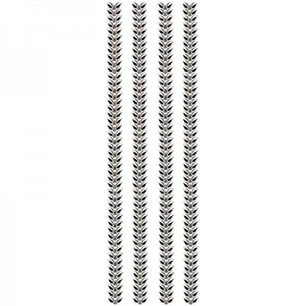 "Premium-Schmuck-Bordüren ""Blattranke"", selbstklebend, 29cm, silber"