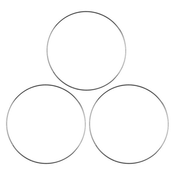 Metallringe, 3mm stark, Ø 20cm, silber, 3 Stück