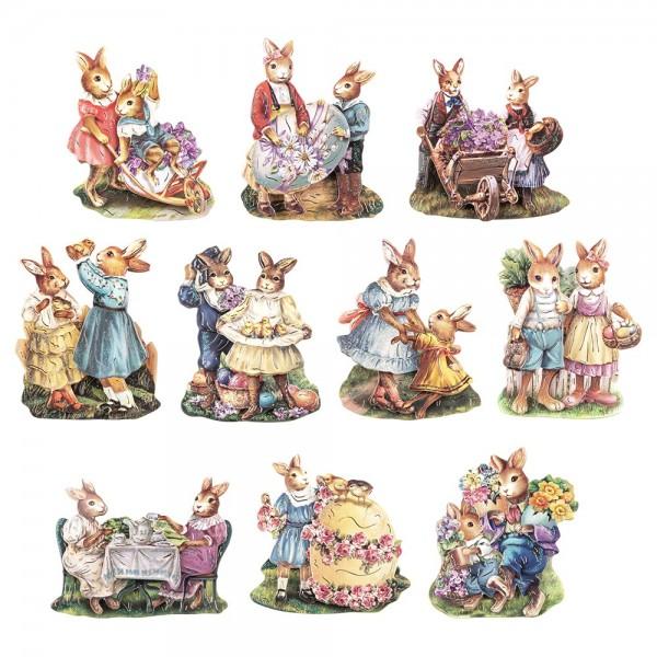 3-D Motive, Ostern Vintage-Style 1, 6-8cm, 10 Motive