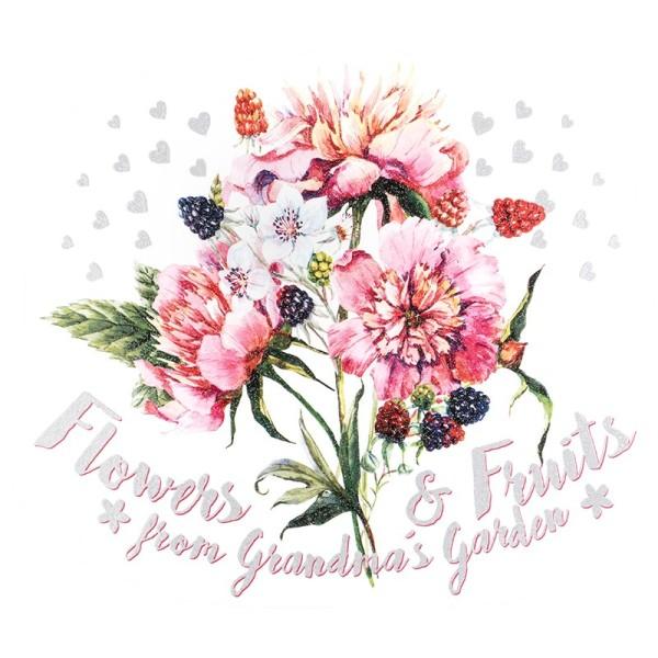 Color Bügeltransfer, Glitzer, DIN A4, Blumen & Früchte