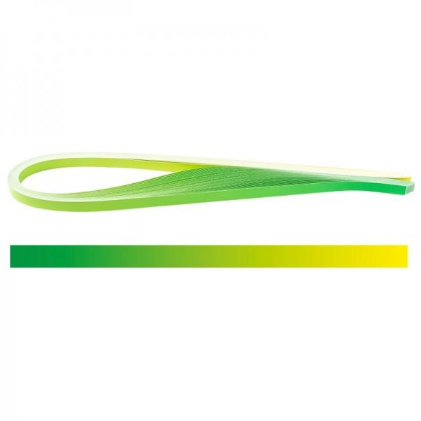 Quilling-Papierstreifen, Farbverlauf, 3 Größen (5mm, 7mm, 10mm), 54cm lang, grün/gelb, 150 Stück