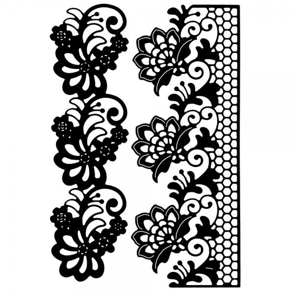 Stanzschablonen, Blumenbordüren, 2 Stück