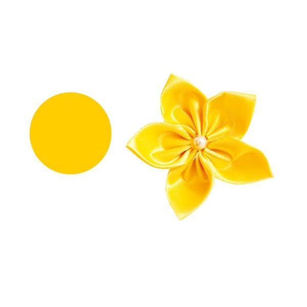 Satin-Stanzform, rund, Ø8cm, 50 Stück, gelb
